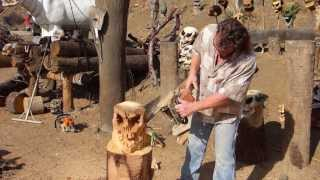 Make A Wood Skull With A Chainsaw With Professional Chainsaw Artist Rio Dejarnett