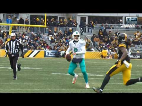 Matt Moore big hard hit: Miami Dolphins @ Pittsburgh Steelers 01-08-2017