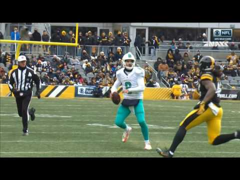 Matt Moore big hard hit: Miami Dolphins @ Pittsburgh Steelers 01-08-2017