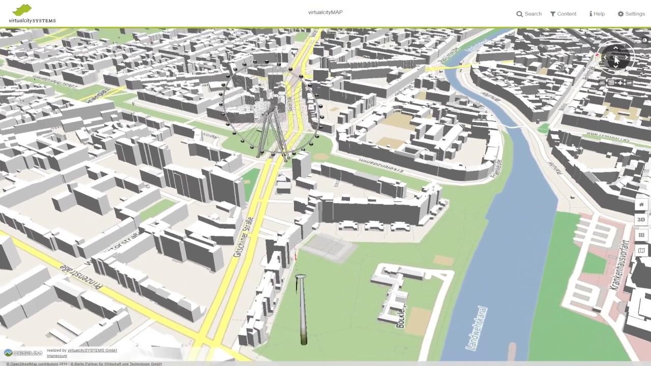 virtualcityPLANNER - Create 3D urban planning scenarios via web