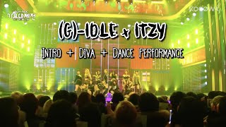 Download [FULL AUDIO] (G)-IDLE x ITZY - MBC Gayo Daejaejeon (MBC 가요대제전) - Intro + Diva + dance performance