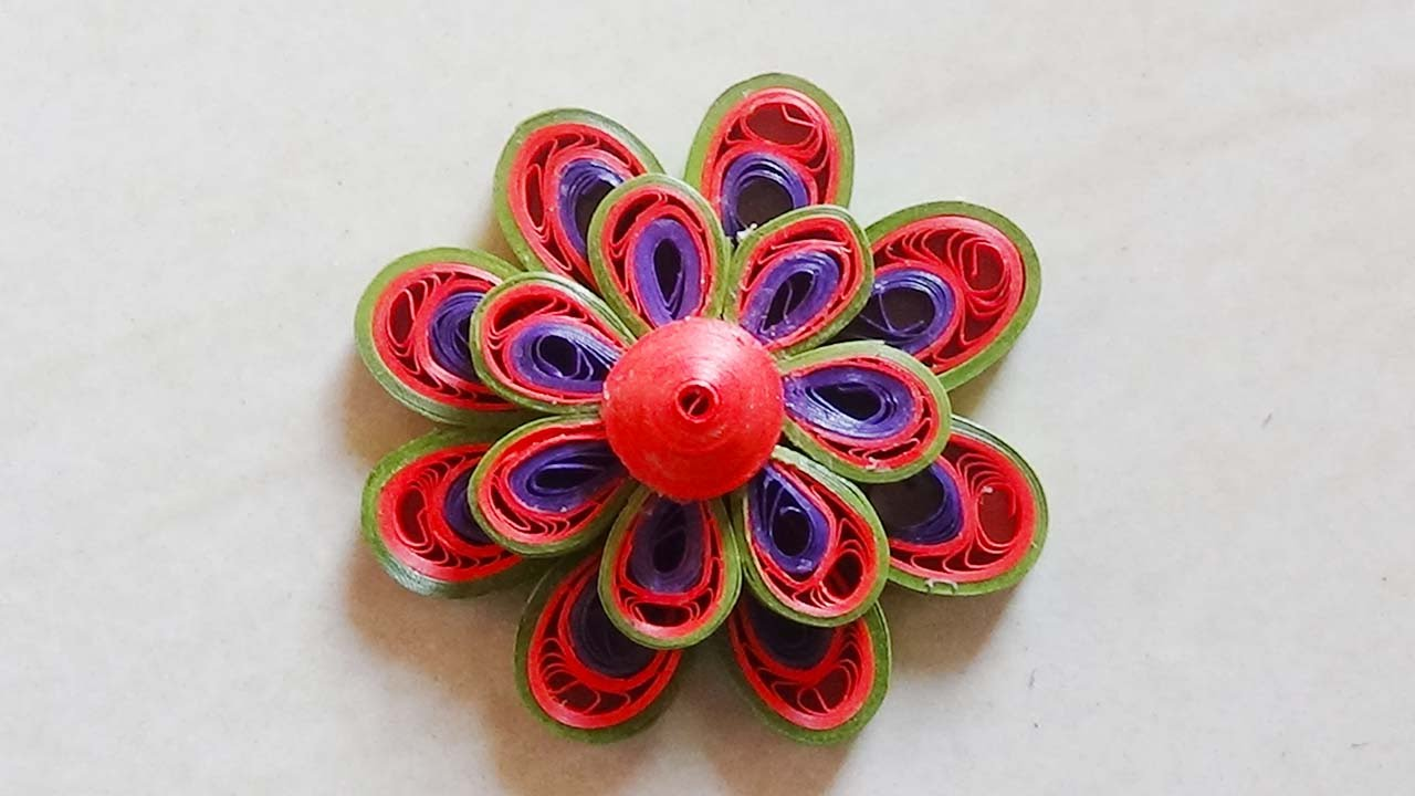 How To Make Quilling Flowers 3d Best How To Make D Paper Quilling
