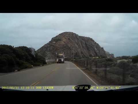 Driving through Morro Bay, California, to the Rock