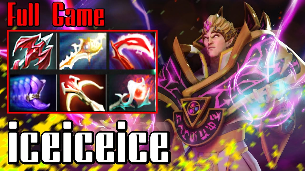 iceiceice invoker dota 2 full game ranked youtube