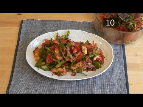 How To Cook Grilled Octopus And Pepper Salad - YouTube