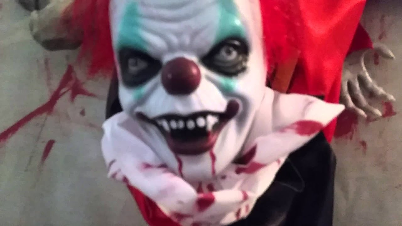 zombie clown prop moving halloween decoration scary evil circus animated youtube - Clown Halloween Decorations