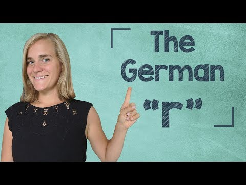 German Lesson (4) - The German 'r' - A1