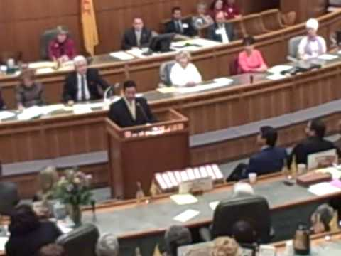 Rep. Ben Ray Lujan Gives Speech to the State Legislature