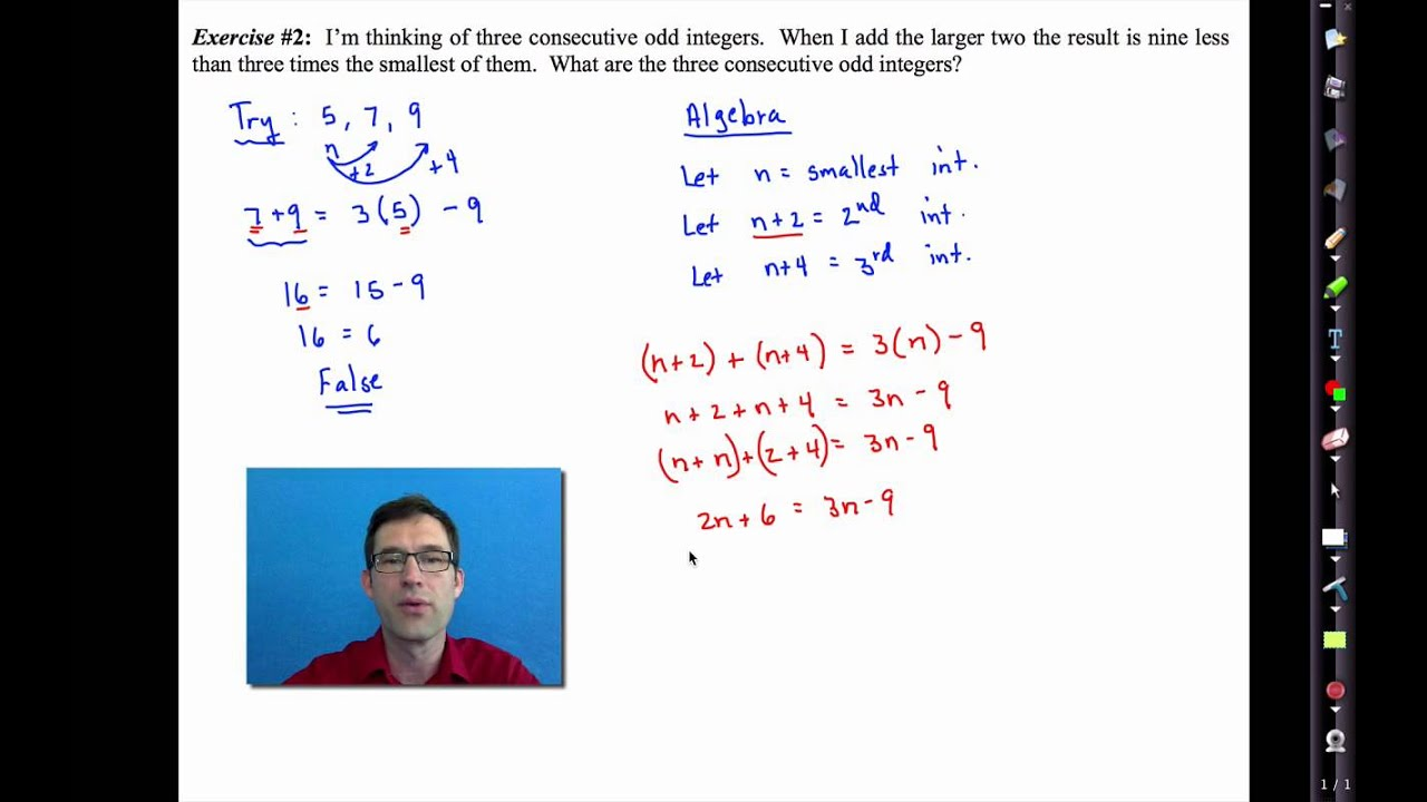 Common Core Algebra IUnit 2Lesson 6More Linear Word Problems – Consecutive Integer Problems Worksheet
