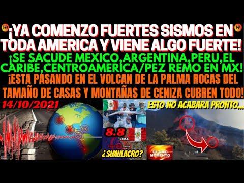 ¡PREPARENSE YA COMENZO SISMOS REMECEN AMERICA Y CARIBE/PEZ REMO EN MEXICO! ESTA PASANDO EN LA PALMA