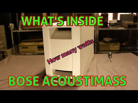 Whats Inside Bose Acoustimass Module ( How Many Watts ?? )