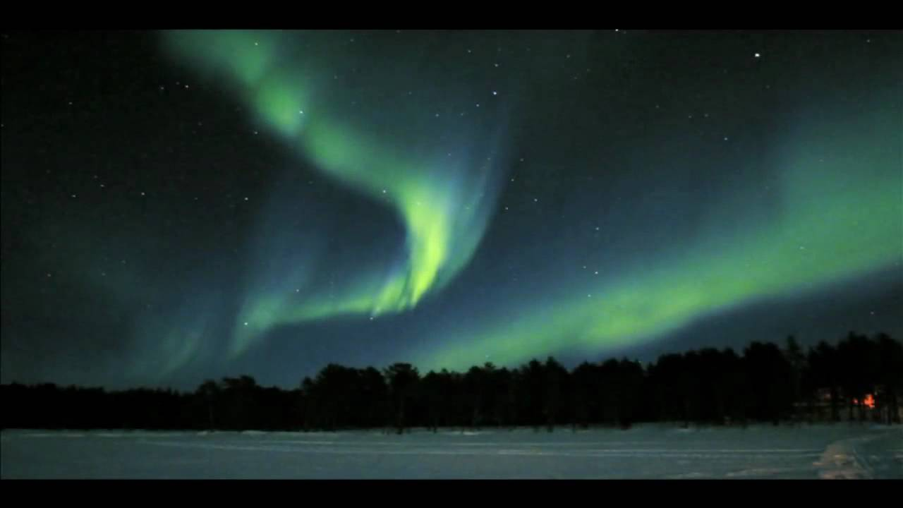 Aurora Borealis Northern Lights In Real Speed Over
