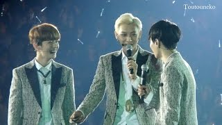 [1080p HD]140602 EXO Tao, Lay, Luhan Talking - The lost planet concert in Hong Kong
