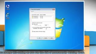Windows 7: Reduce Recycle Bin maximum size for storage space efficiency