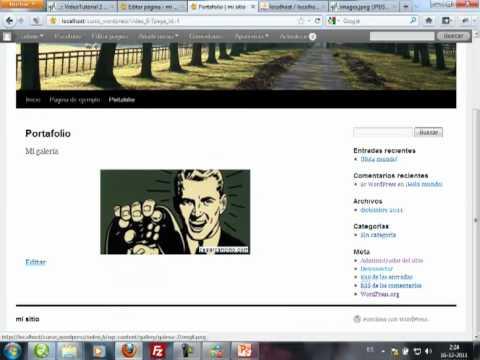 VideoTutorial 6 del Curso sobre WordPress