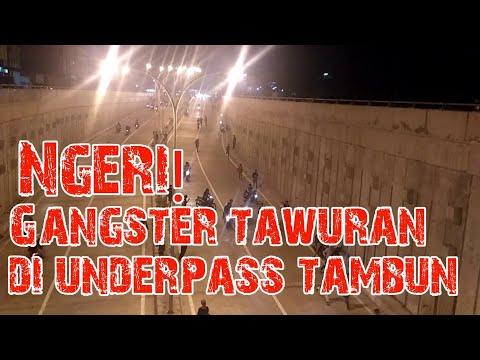 Gengster Tawuran Di Underpass Tambun Bekasi