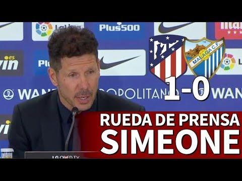 Atlético 1-0 Málaga   Rueda de prensa de Simeone   Diario AS