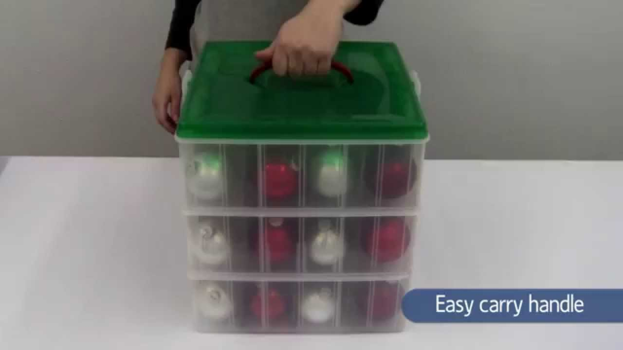 Snapware Christmas Ornament Storage Boxes   YouTube