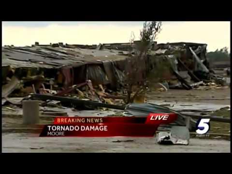 Damage extensive near Warren Theatre in Moore