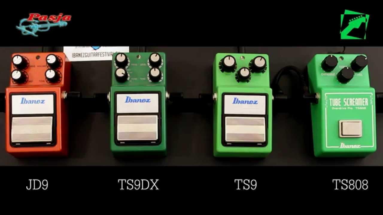 Ibanez Tube Screamer Comparison Ts808 Vs Ts9 Vs Ts9dx Vs