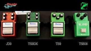 ibanez tube screamer comparison ts808 vs ts9 vs ts9dx vs jd9 demo reamping test multitest