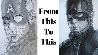 Drawing Captain America Avengers EndGame Chris Evans