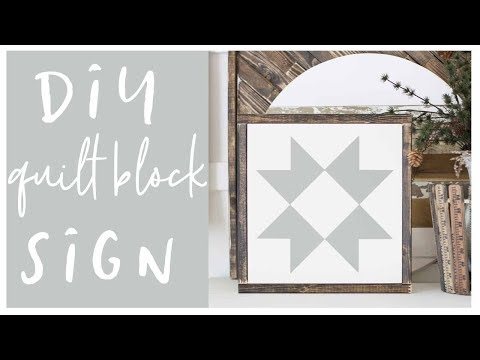 How To Make Farmhouse SIgn Quilt Blocks
