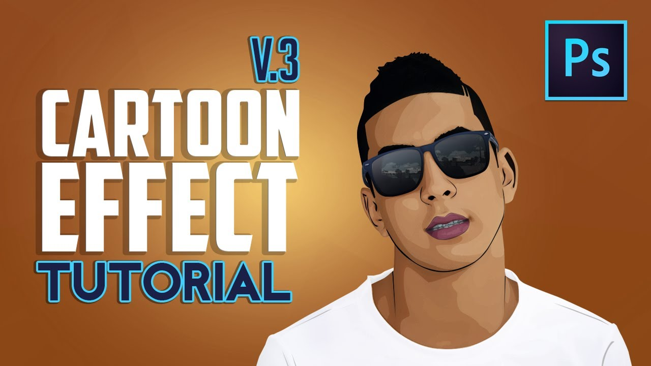 Adobe Photoshop Cartoon Effect Youtube