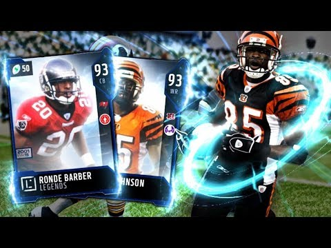 LEGENDS OCHOCINOCO AND RONDE BARBER! BEST RECEIVER IN MADDEN 18! | MADDEN 18 ULTIMATE TEAM