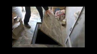Люк в пол под плитку 100х100 см(Потайные напольные люки под плитку на заказ в Украине. http://люки.укр., 2016-03-16T16:03:55.000Z)