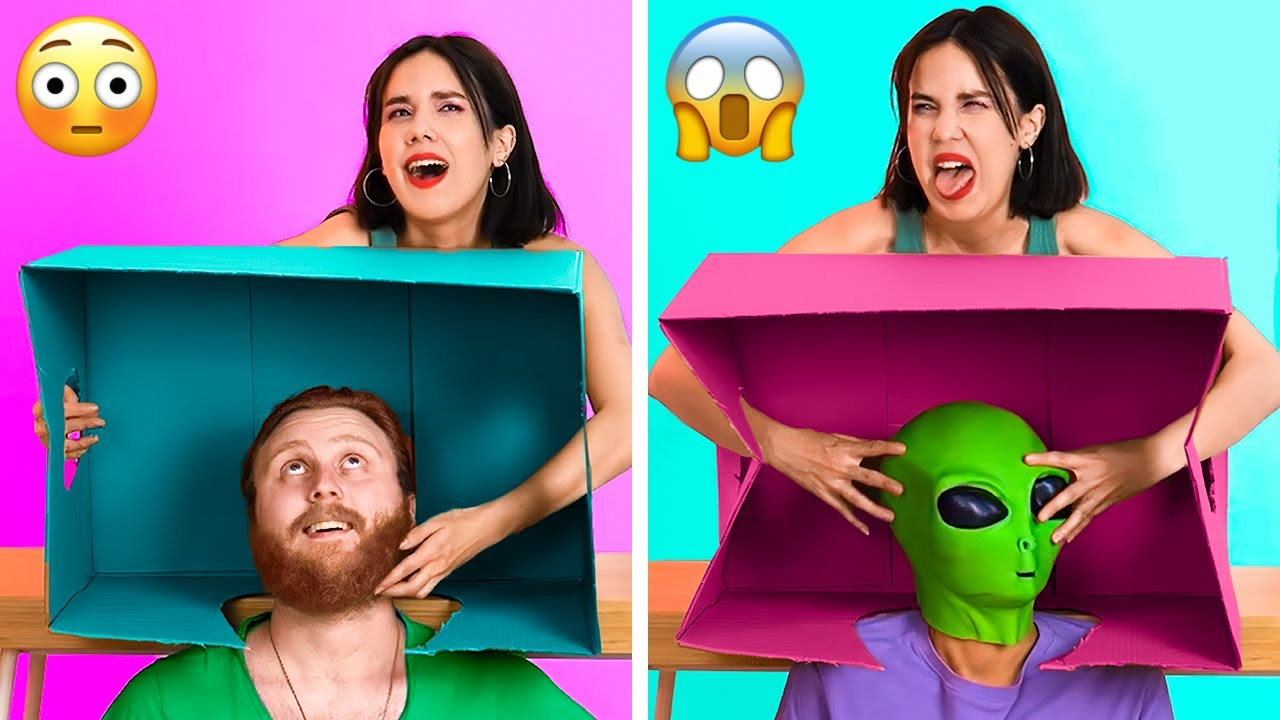 WHO'S IN THE BOX? 📦👽 || Funny Tik Tok Challenges And Games To Play If You Are Bored