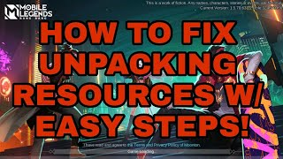 How to fix 'Unpacking Resources