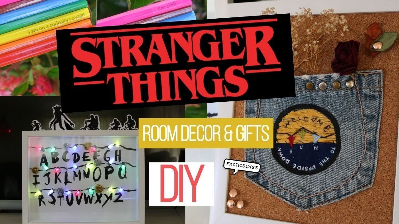 Diy stranger things fandom room decor gifts must try for Room decor gifts