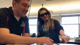 Colorblind Teen Cries Seeing Color For First Time After Class Gifts Her Glasses | Inside Edition