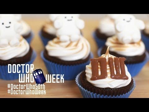 Make DR WHO SMORE CUPCAKES - NERDY NUMMIES - Dr Who 50th Anniversary Snapshots