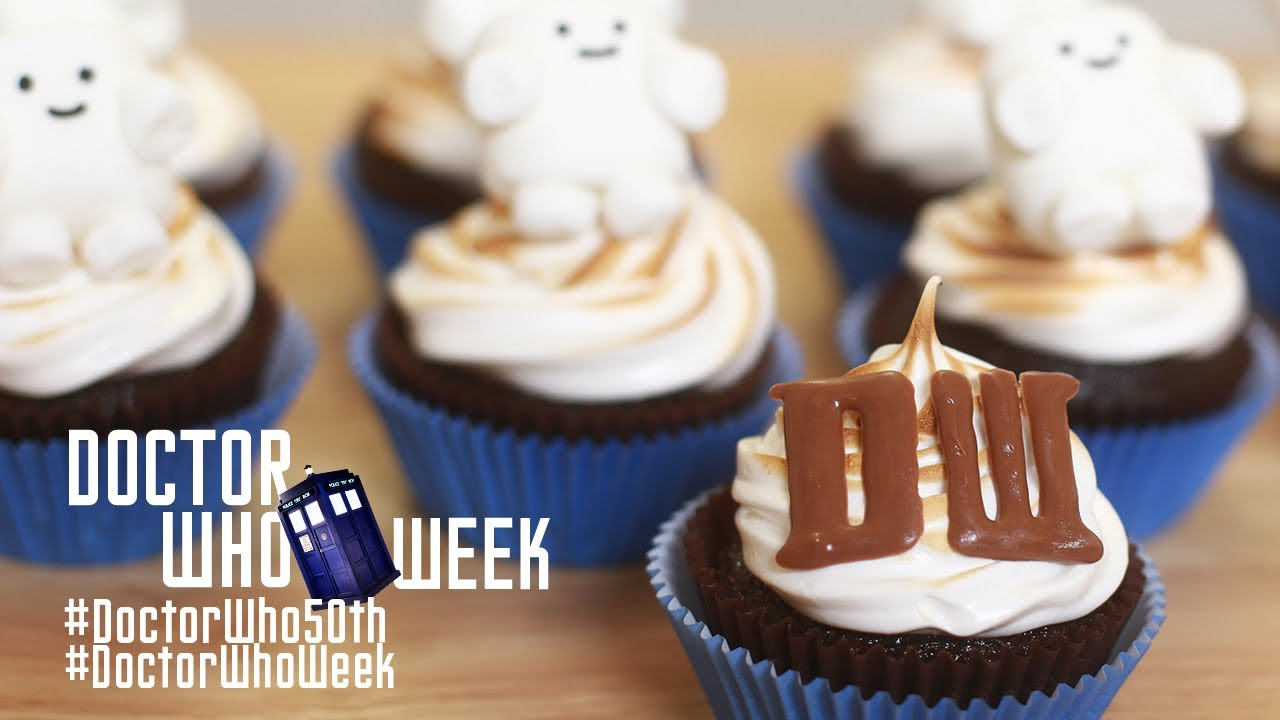 Dr Who Smore Cupcakes Nerdy Nummies Dr Who 50th
