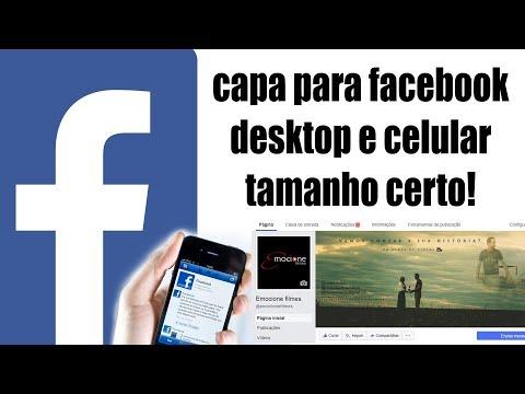 como fazer capa para facebook desktop e celular aprovado