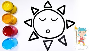 How to Draw the Sun   Coloring & Drawing for Kids