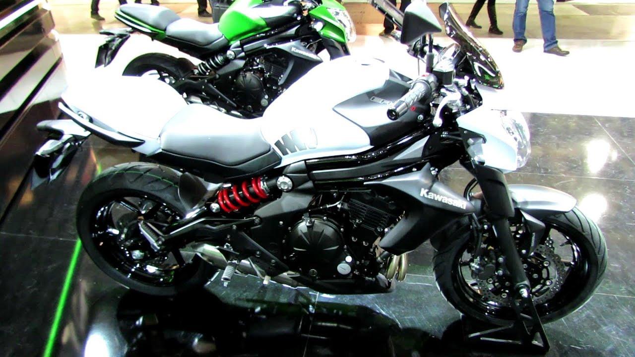 2014 Kawasaki ER-6n Walkaround - 2013 EICMA Milano Motorcycle ...