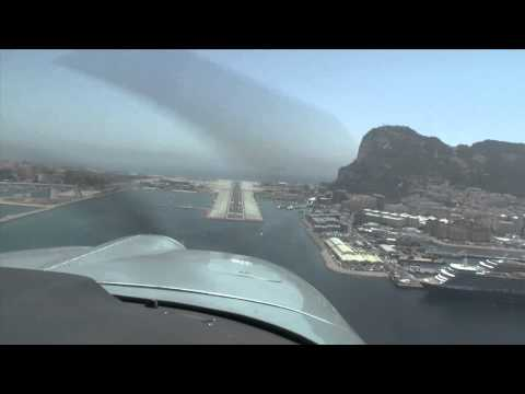 Low Approach Gibraltar with 4 Grummans AA5