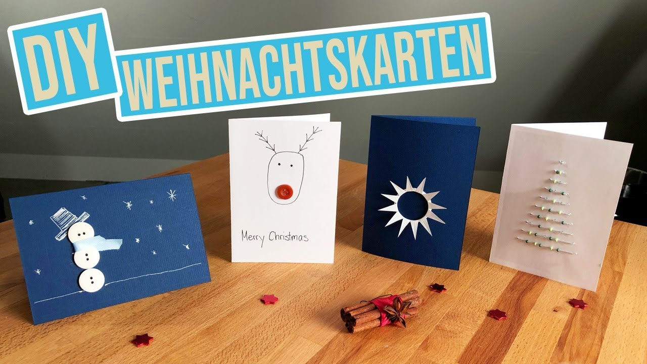 3 diy weihnachtskarten basteln karten f r weihnachten. Black Bedroom Furniture Sets. Home Design Ideas
