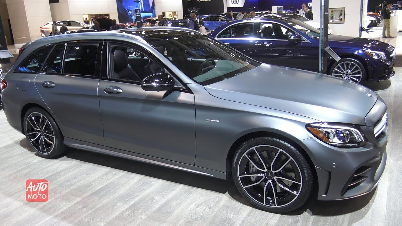 2019 mercedes amg c43 4matic wagon - exterior and interior walkaround
