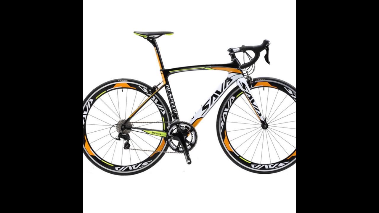 SAVA 700C Carbon Fiber Road Bike Complete Bicycle Carbon - YouTube