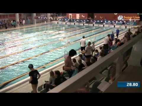 11 50m Selkäuinti Naiset Heat 4 18 08 33