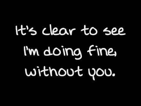 Pixie Lott - Doing Fine (Without You) - Lyrics on Screen!