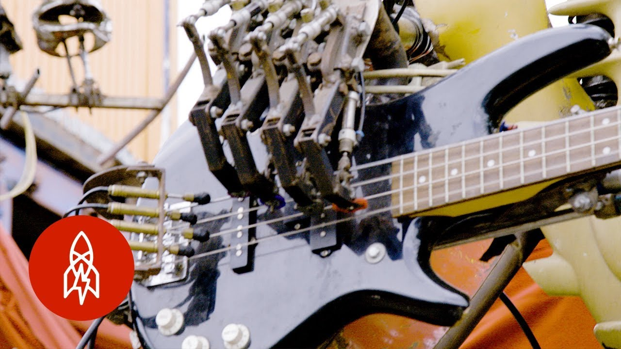 One Love Machine Is a Robot Band Made from Scrap Metal
