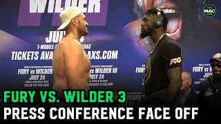 Tyson Fury and Deontay Wilder have intense and longest face-off ever as both refuse to look away