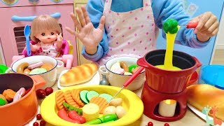 Mell-chan Doll Cheese Fondue Cooking Toy Playset and Pot au Feu , Cheese Slime