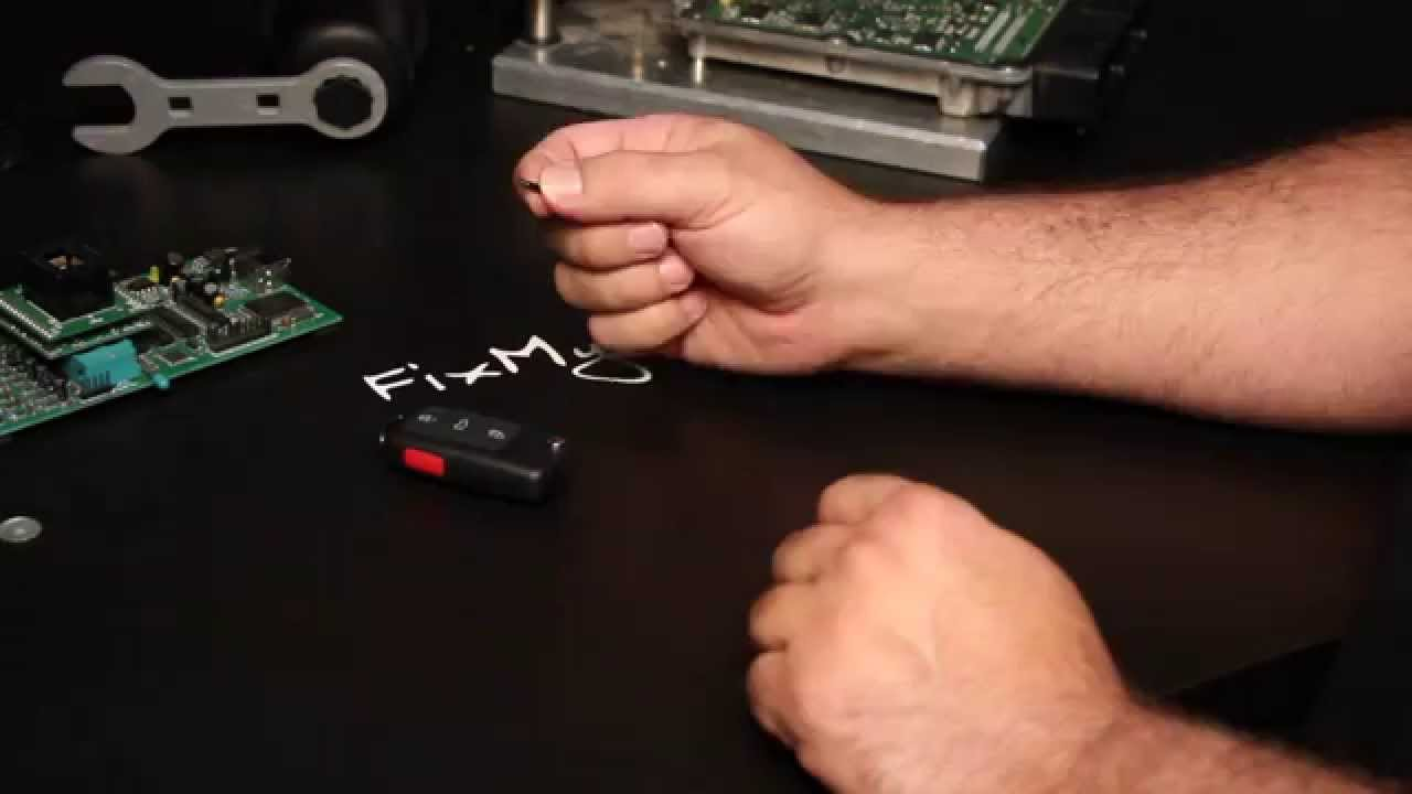 DIY  How to replace  swap an immobilizer RFID Chip in a VW Key FOB  YouTube