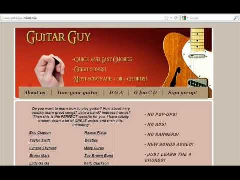 How to play Kidrock feat. Sheryl Crow - Picture on guitar! VERY EASY!